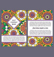 brochure design with vintage floral pattern vector image vector image