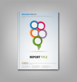 brochures book or flyer with colorful round vector image vector image