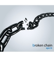 Broken chain vector image