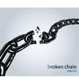 Broken chain vector image vector image