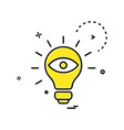 Bulb eye icon design
