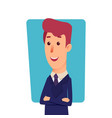 business man character cartoon successful vector image vector image