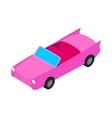 Car convertible icon isometric 3d style vector image vector image