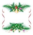 Christmas card as a frame vector image