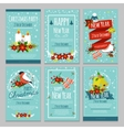 Christmas Hand Drawn Poster Set vector image