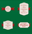 christmas realistic labels collection vector image