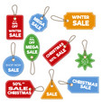 christmas sale paper tag banner holiday discount vector image vector image
