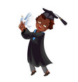 college graduation flat colorful poster congrats vector image