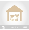Cowshed icon vector image vector image
