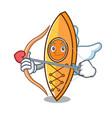 cupid canoe character cartoon style vector image