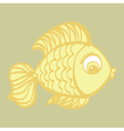 Cute cartoon hand drawn fish vector image vector image