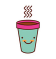 cute hot coffe cup vector image