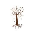 dead tree symblol of environmental pollution vector image
