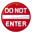 do not enter warning sign vector image