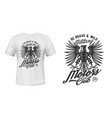 eagle motors club t-shirt print mockup military vector image vector image