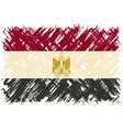 Egyptian grunge flag vector image vector image