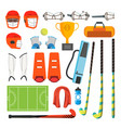 field hockey icons set field hockey vector image vector image
