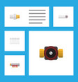 flat icon pipeline set of tap industry pipework vector image vector image