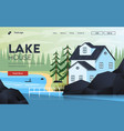 flat modern design mountain house vector image