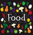 food word creative colorful design vector image vector image