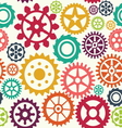 Gear seamless pattern vector image