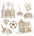 germany drawn symbols set vector image