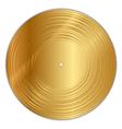 golden vinyl record vector image vector image