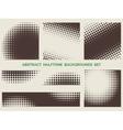 Grunge halftone patterns set vector image vector image