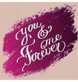 Hand drawn typography card Valentine love card vector image