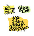 hand lettering collection modern hand vector image vector image
