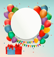 Happy Birthday background with balloons and