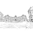 hofburg palace st michaels square vienna vector image vector image