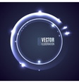 Light shining glowing ring vector image