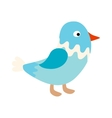 little standing blue bird sparrow pointing vector image vector image