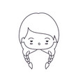 monochrome silhouette of facial expression sad vector image vector image