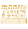 notes music melody colorfull musician vector image vector image