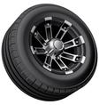 Off road vehicle wheel vector image vector image