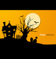 paper art of spooky tree graveyar vector image
