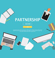 partnership graphic for business concept vector image vector image