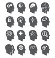 psychology icons set vector image vector image