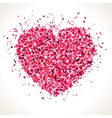 Red pink heart shape dots vector image