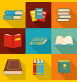research paper icons set flat style vector image vector image