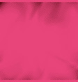 retro style pink dotted pop art grain background vector image vector image