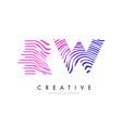 rw r w zebra lines letter logo design