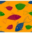 seamless pattern with fishes eps 10 vector image vector image