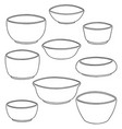 set of bowl vector image vector image