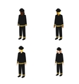 Set of isometric firefighters vector image vector image