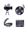 set short film production tools vector image vector image