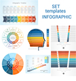 Set Templates Infographics positions 9 vector image