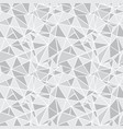 silver grey geometric mosaic triangles vector image vector image